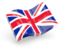 united kingdom glossy wave icon 64